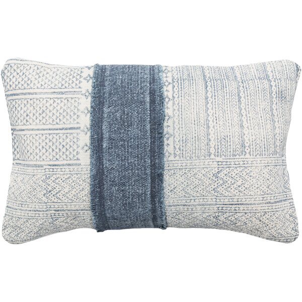 Kyoto 100% Cotton Lumbar Pillow Cover by Mistana